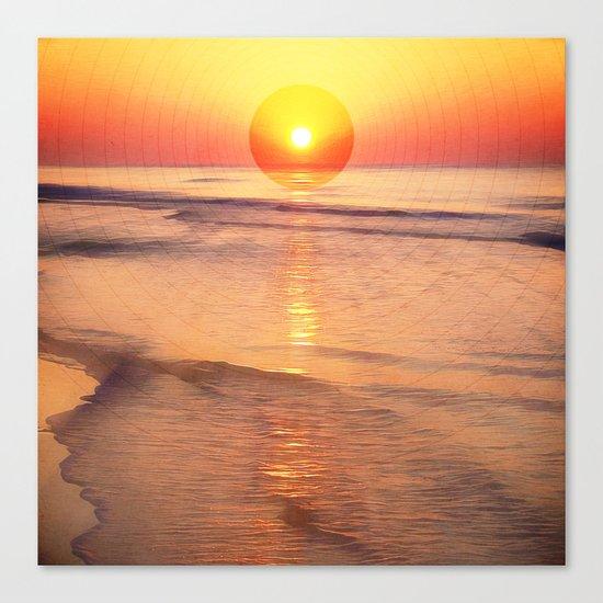 Sunrise Over Ocean Canvas Print