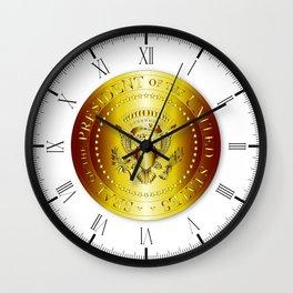 Presedent Seal In Gold Wall Clock
