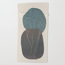Line Female Figure 80 Beach Towel