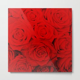 Some people grumble- Floral Red Rose Roses Flowers Metal Print