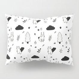 Squirrel & Rabbit in the Forest Pattern  Pillow Sham