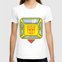 transformers T-shirts featuring Transformers - Bumblebee by CaptainLaserBeam