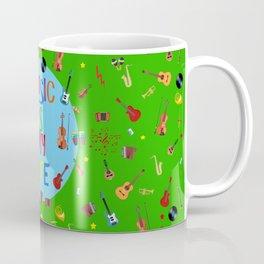 Music is my life (Green) Coffee Mug