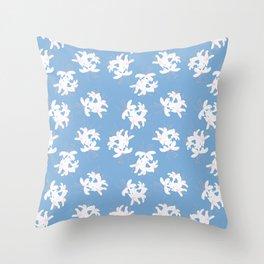 Honeysuckle Bouquet in Carolina Blue Throw Pillow