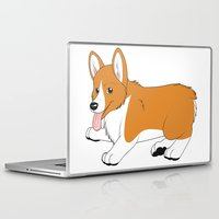 corgi Laptop & iPad Skins featuring Corgi by Leslie Pierrot