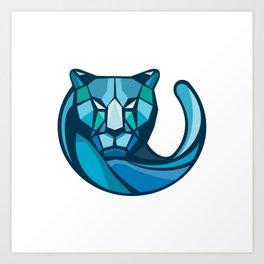 Cheetah Head Low Polygon Style Art Print