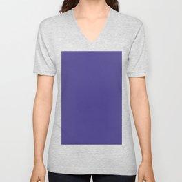 color dark slate blue Unisex V-Neck