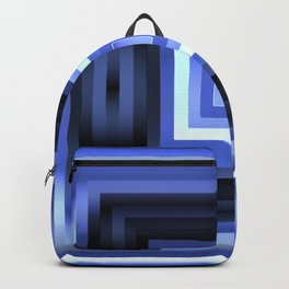 Blueberry Blue Squares Geometric Backpack