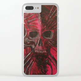 Dead Red Clear iPhone Case