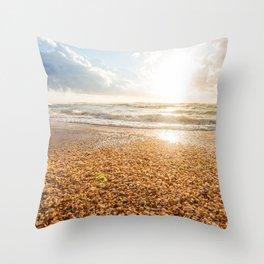 Sunset Cockleshell Throw Pillow