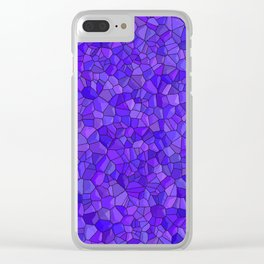 Sapphires and Amethysts Clear iPhone Case