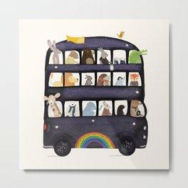 the rainbow bus Metal Print