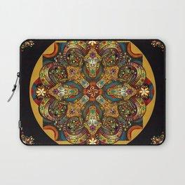 Mandala Sacred Rams - Dark Version Laptop Sleeve