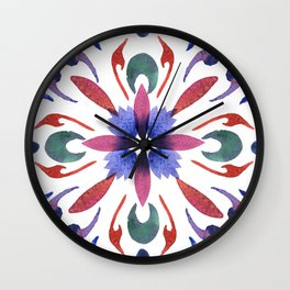 Floral ornament. Watercolor Wall Clock