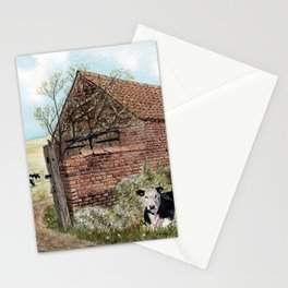 Farm Shed with Cow Stationery Cards