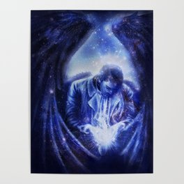 Angel in Blue Poster