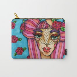JennyMannoArt Colored Illustration/Rose Carry-All Pouch
