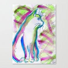 Cat of Color Canvas Print