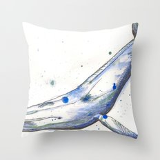 Whaaaale Throw Pillow
