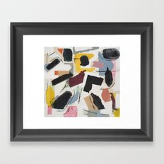 Large Collage With Paint 1 Framed Art Print