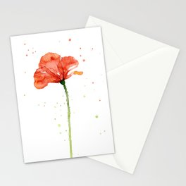 Abstract Red Poppy Flower Stationery Cards