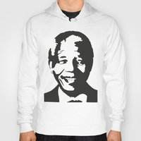 mandela Hoodies featuring Mandela by b & c