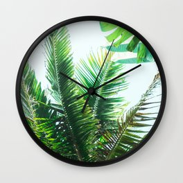 Palm Leaf Relaxation Wall Clock