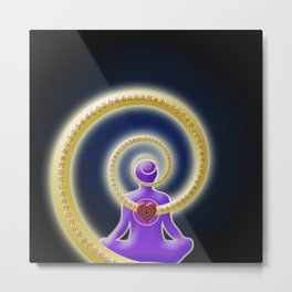 Share Inner Peace Metal Print
