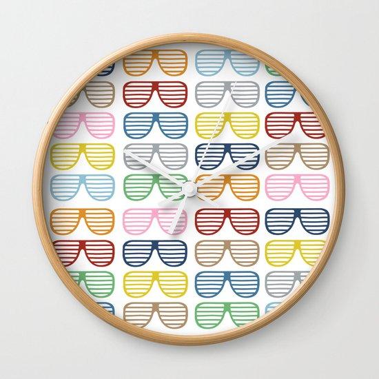 Rainbow Shutter Shades Wall Clock