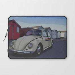 Southend on Sea Beach Huts Homage Laptop Sleeve