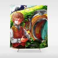 thorin Shower Curtains featuring Shire AU by NON6