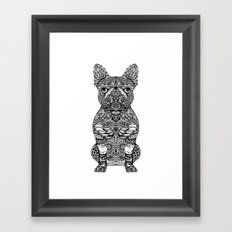 Mandala Frenchie Framed Art Print