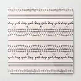 Tribal Pattern of Bakubai Metal Print