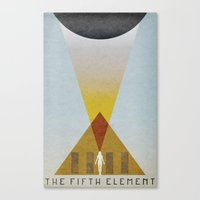 fifth element Canvas Prints featuring The Fifth Element by Travis English