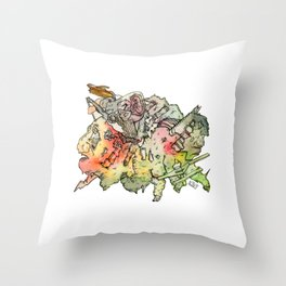 Cosmic Migraine Throw Pillow
