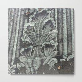 Acanthus in Gray Metal Print