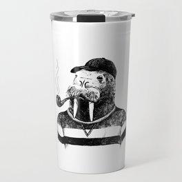 Walrus with a Pipe Travel Mug