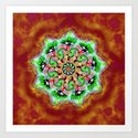 Spider Eye Mandala - Red BG by melasdesign
