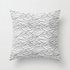 Serpentines Throw Pillow