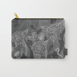 Rose Garden White Carry-All Pouch