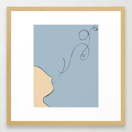 She: Whispers and Dreams //Illustration Framed Art Print