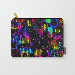 Sweet As Candy Black - colorful watercolor pattern by Lo Lah Studio Carry-All Pouch