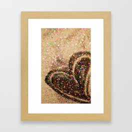 Some Hearts Get Lucky Framed Art Print