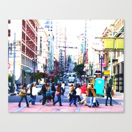 Up the Street Canvas Print