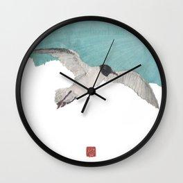 Seagull, Sky, Beach, Coastal Wall Clock