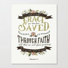 36/52: Ephesians 2:8 Canvas Print