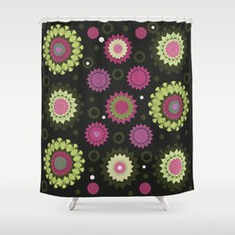 Mandala and Flowers Shower Curtain
