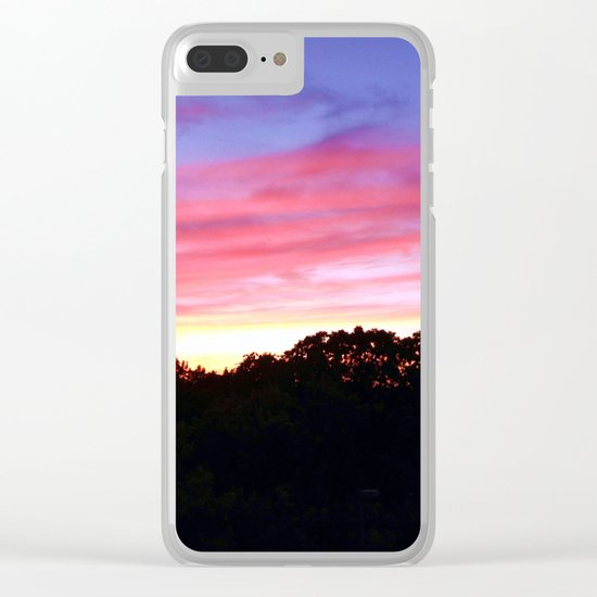 Wisconsin Sunset Clear iPhone Case