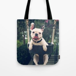 Frenchie Swings Tote Bag
