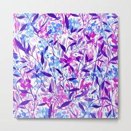 Wandering Wildflowers Violet Metal Print